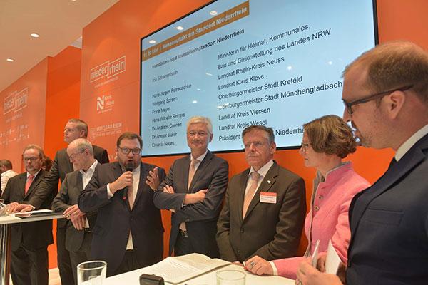 Expertenrunde mit Ministerin Ina Scharrenbach und den Oberbürgermeistern und Landräten vom Niederrhein